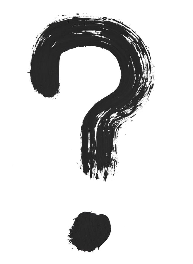 brush stroke question mark